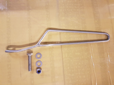 Stainless steel cable guide 4mm thick